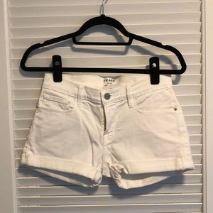 Never worn white denim shorts